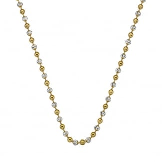 Ladies Two Tone Beaded 45cm Chain