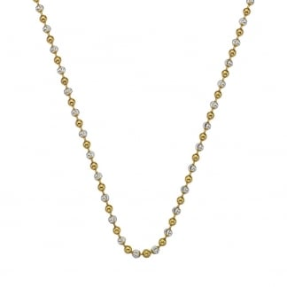 Ladies Two Tone Beaded 61cm Chain