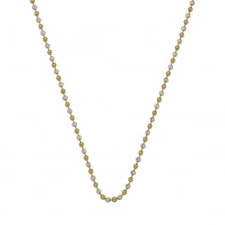 Ladies Two Tone Beaded 76cm Chain