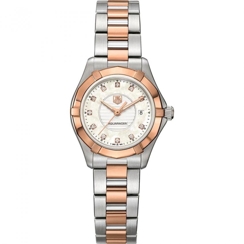 TAG Heuer Ladies Two Tone Diamond Aquaracer Watch WAP1451.BD0837