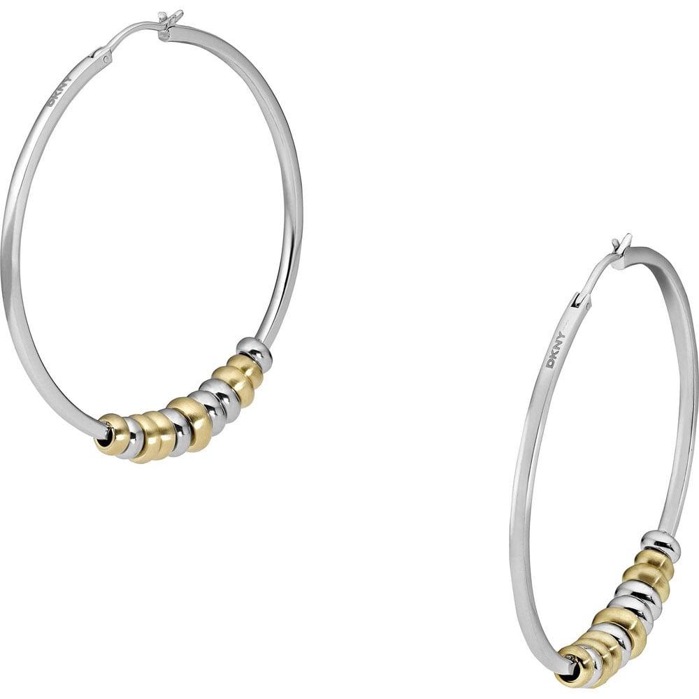 Ladies Two Tone Hoop Earrings