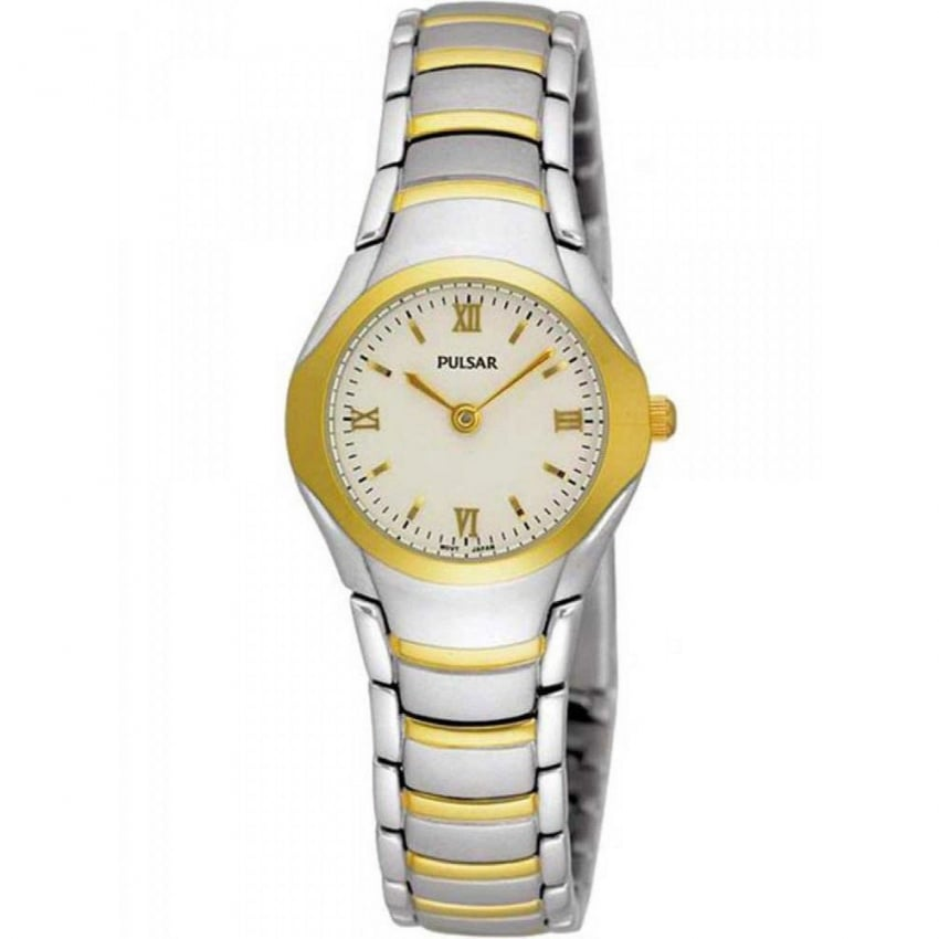 Ladies Two Tone Mother of Pearl Dial Slim Watch PEG406X1