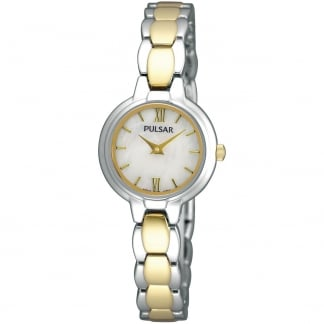 Ladies Two Tone Mother of Pearl Dial Watch