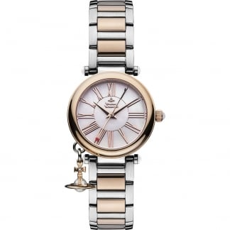 Ladies Two Tone Mother Orb Watch