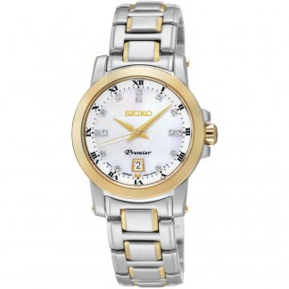 Ladies Two Tone Premier Diamond Set MOP Dial Watch