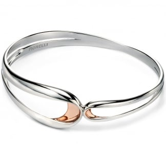 Ladies Two Tone Ribbon Loop Bangle