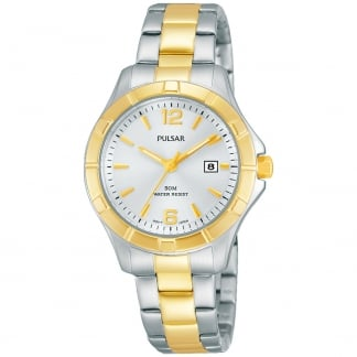 Ladies Two Tone Sport Watch