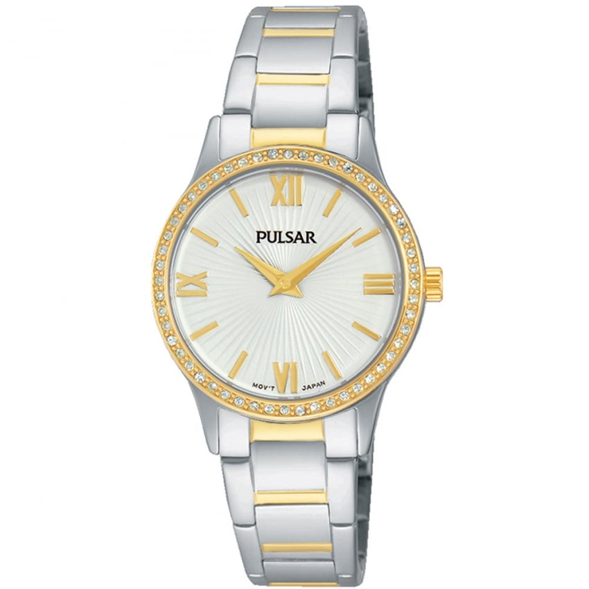 Pulsar Ladies Two Tone Stone Set Watch PM2168X1