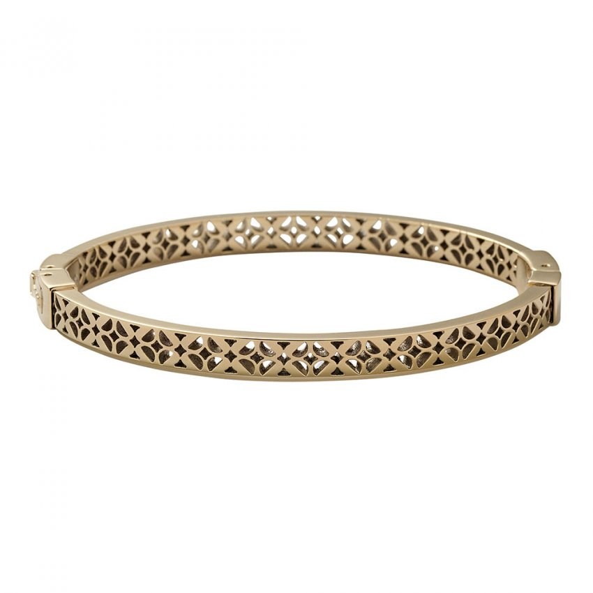 Fossil Ladies Vintage Iconic Gold Tone Signature Bangle JF00098710