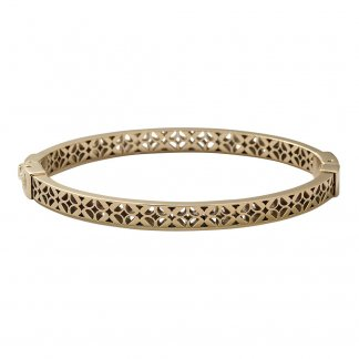 Ladies Vintage Iconic Gold Tone Signature Bangle JF00098710
