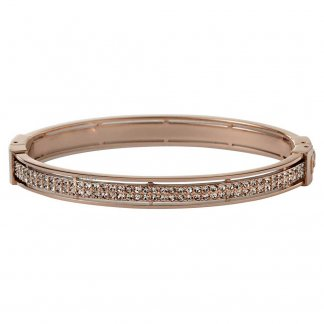 Ladies Vintage Glitz Rose Gold Bangle