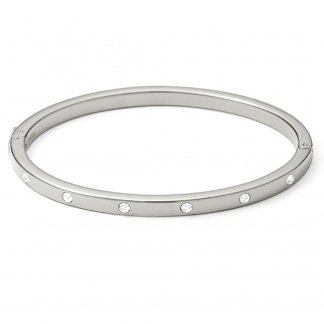Ladies Vintage Glitz Stainless Steel Bangle