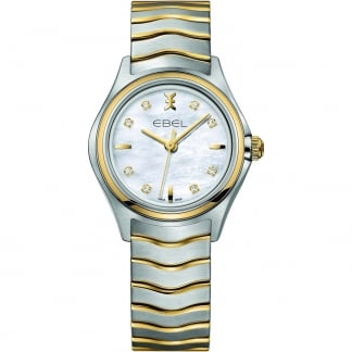 Ladies Wave Two Tone Diamond Set Watch
