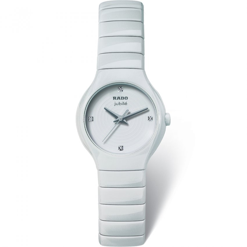 e69d8bf2b4e RADO Ladies White Ceramic True Jubile Watch Product Code  R27696712