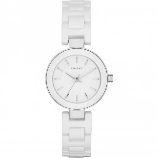 Ladies White Ceramic Stanhope Watch