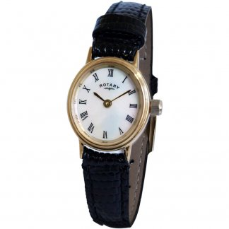 Ladies White Mother of Pearl Gold Tone Watch