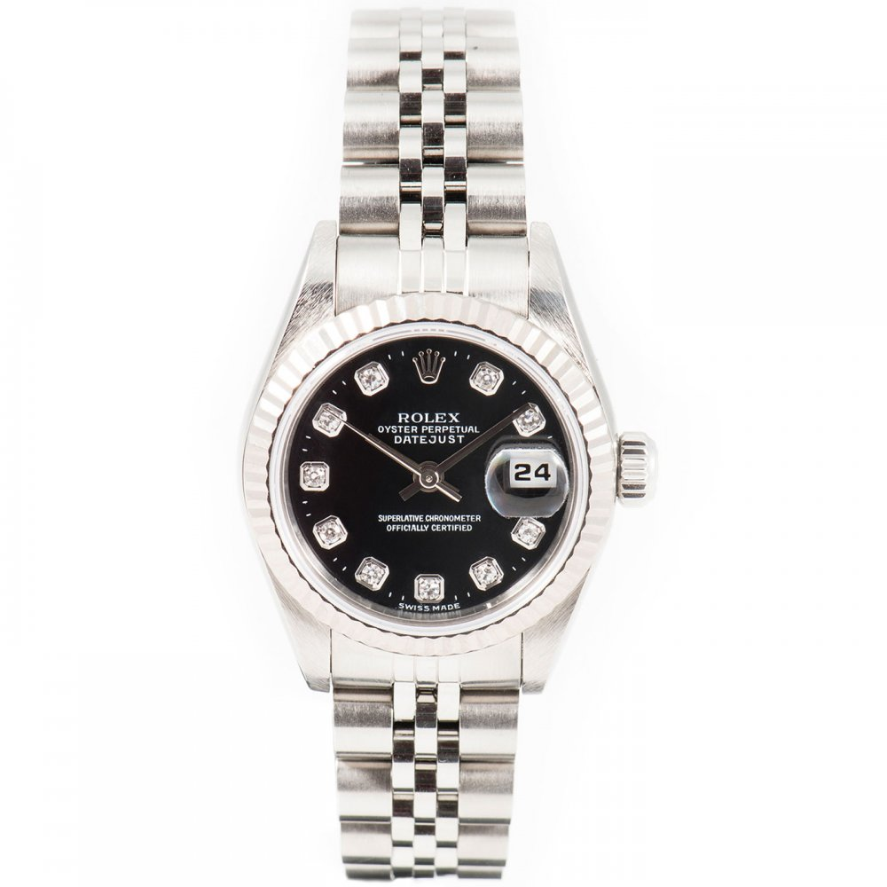 Ladies White Rolesor Oyster Perpetual Datejust Watch 1998