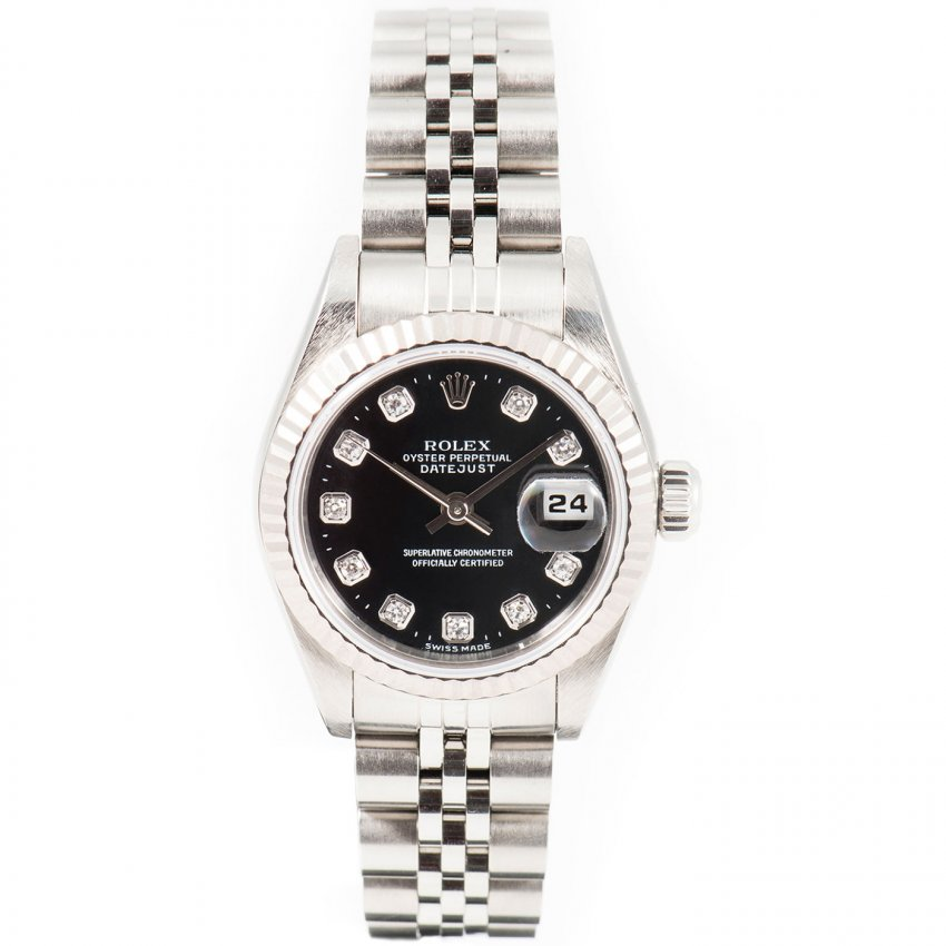 pre owned rolex white rolesor oyster perpetual