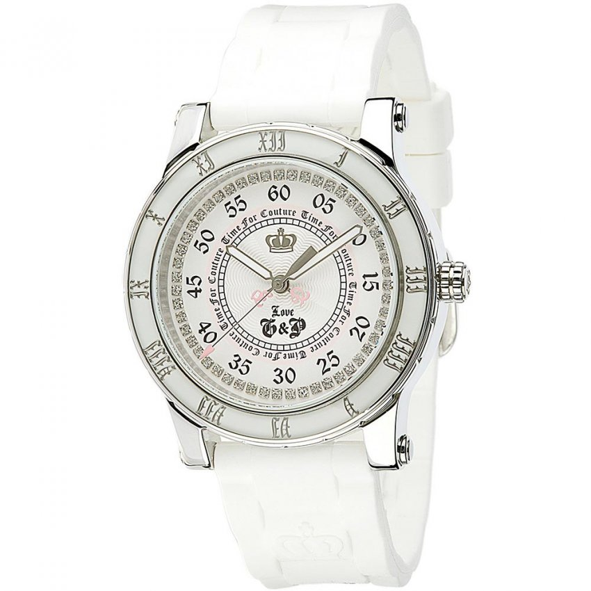 Juicy Couture Ladies White Strap Stone Set HRH Watch 1900417