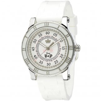Ladies White Strap Stone Set HRH Watch 1900417