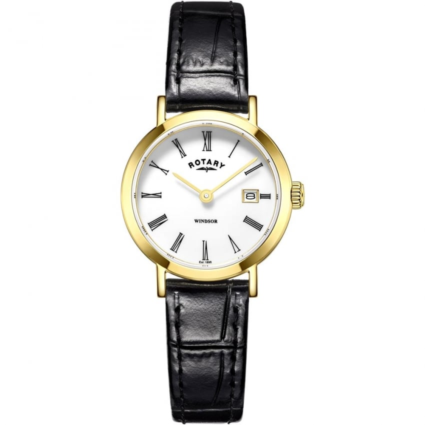Ladies Windsor Black Leather Strap Watch LS05303/01