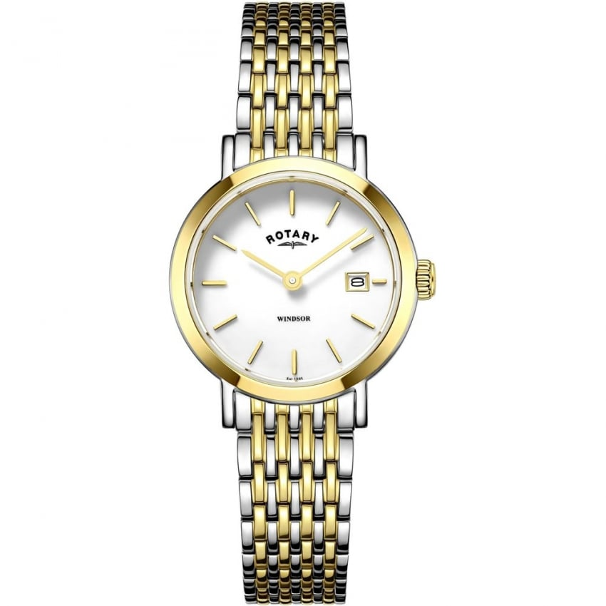 Rotary Ladies Windsor Two Tone Bracelet Watch LB05301/01
