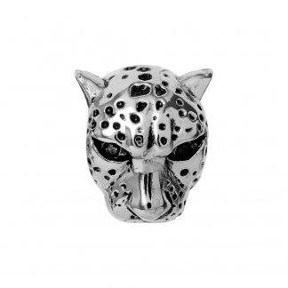 Leopard Silver Charm