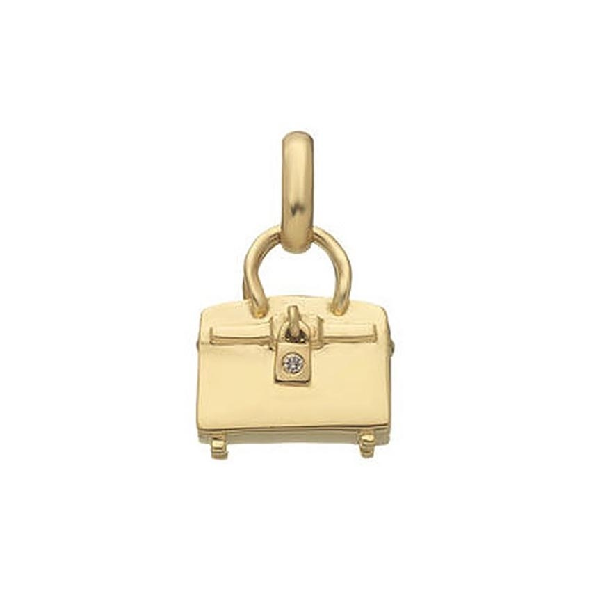 Links of London 18ct Gold Diamond Tres Chic Bag Charm 5030.0416