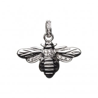 18ct White Gold Diamond Bumble Bee Charm 5030.1145