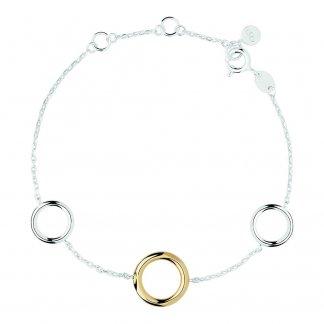 20/20 Silver and Gold Bimetal Bracelet 5010.2067