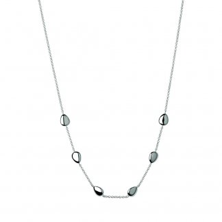 45CM Silver Hope Station Necklace