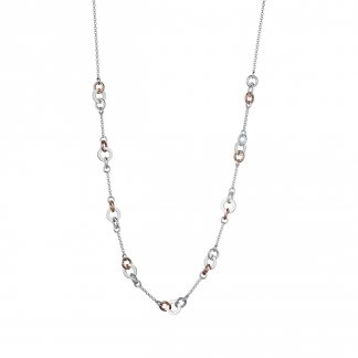 Aurora Bi-Colour Link Station Necklace