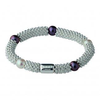 Black and White Pearl Effervescence Star Bracelet 5010.1396