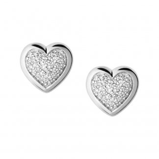 Diamond Essential Heart Studs