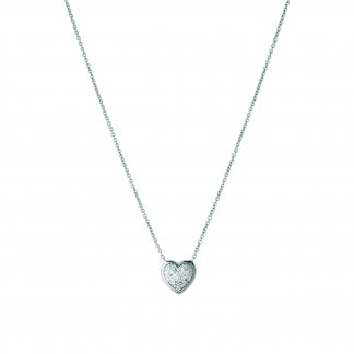 Diamond Essentials Pave Heart Necklace