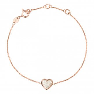 Diamond Essentials Rose Gold Pave Heart Bracelet 5010.2848