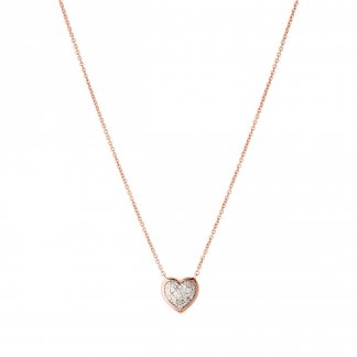 Diamond Essentials Rose Gold Pave Heart Necklace 5020.2729
