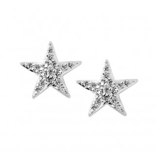 Diamond Essentials White Pave Star Stud Earrings