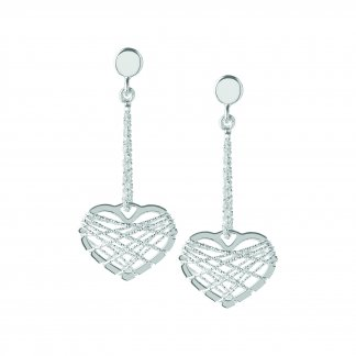 Silver Dream Catcher Heart Earrings 5040.2328