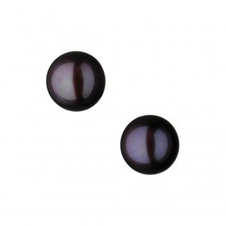 Effervescence Black Pearl Stud Earrings