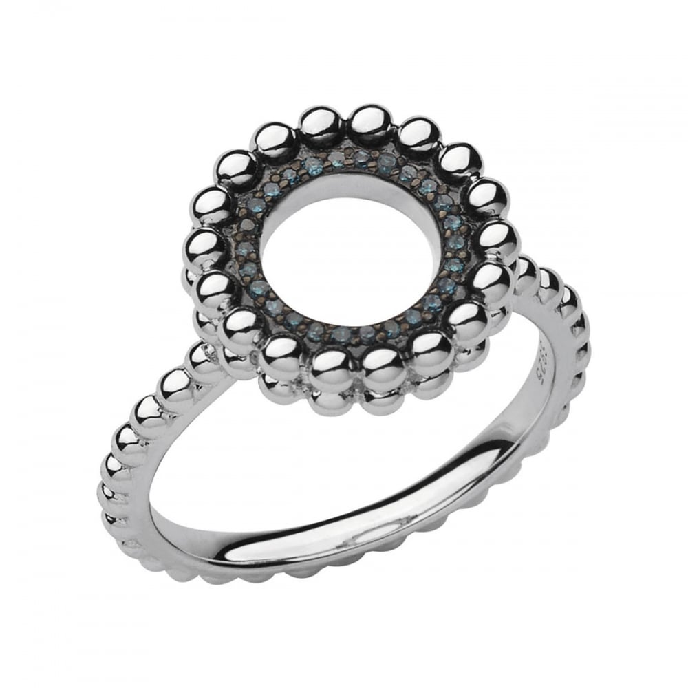 2d565894b45 Links of London Effervescence Sterling Silver   Blue Diamond Ring ...