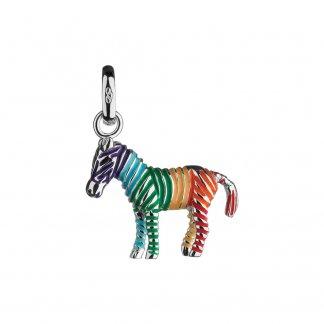 Enamel Rainbow Zebra Charm 5030.1418