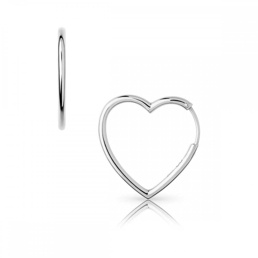 902492ab9 Links of London Endless Love Silver Heart Hoop Earrings - Jewellery ...