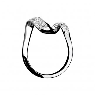 Entwine White Sapphire Pave Set Ring