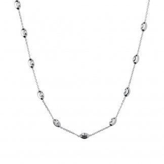 Essential Silver Beaded 45cm Necklace