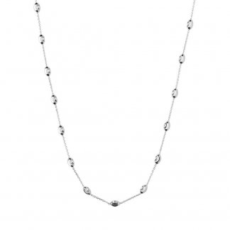 Essential Silver Beaded 80CM Necklace