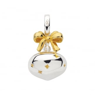 Festive Yellow Gold Bauble Charm