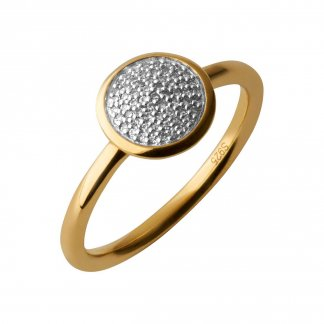 Gold Diamond Essentials Pave Ring