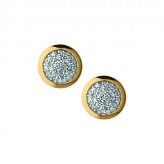 Gold Pave Diamond Essentials Studs