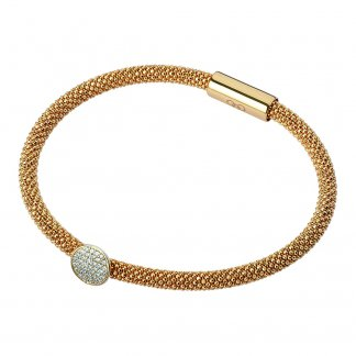 Gold Star Dust Round Bead Bracelet 5010.2483